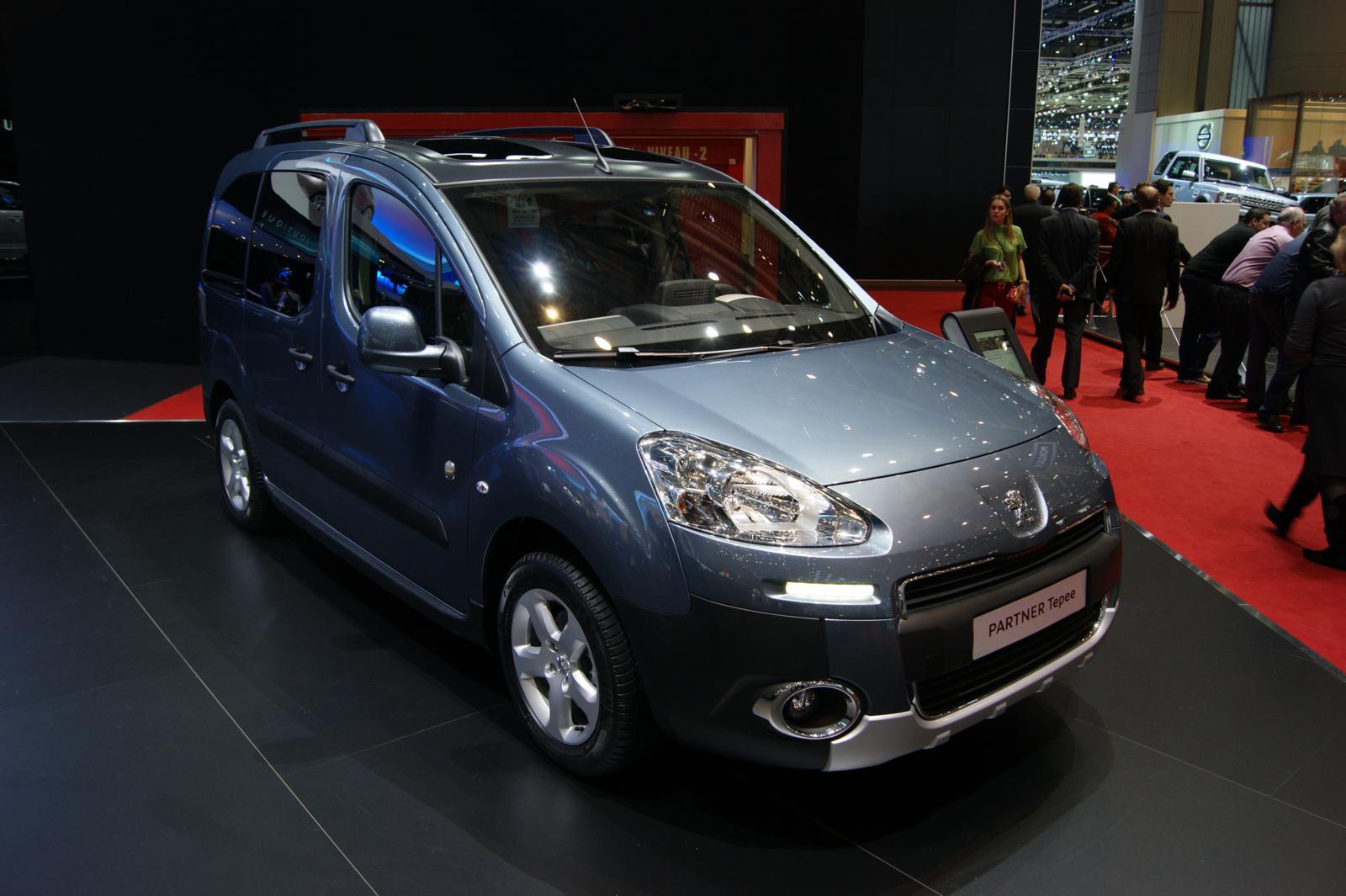 Geneva 2012 Peugeot Partner Tepee Front Seat Driver