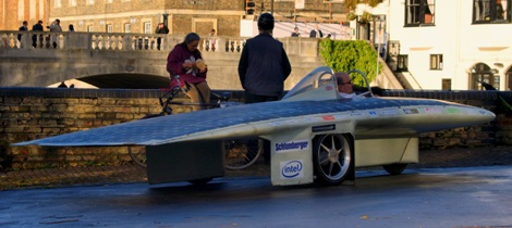 First Drive Cuer Endeavour Solar Powered Race Car Front