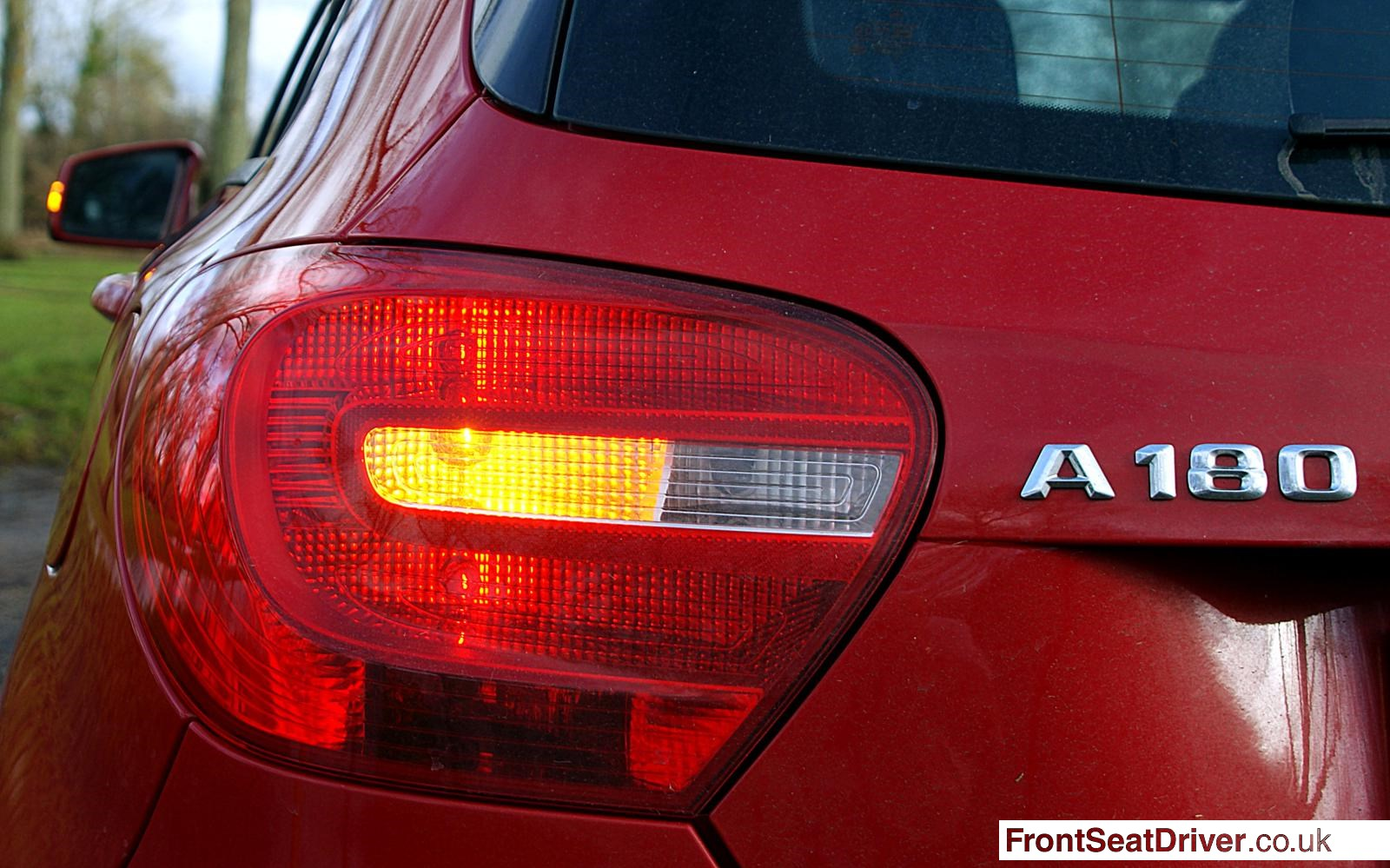 Mercedes A Class A180 Se 2013 Rear Light Detail Front Seat Driver