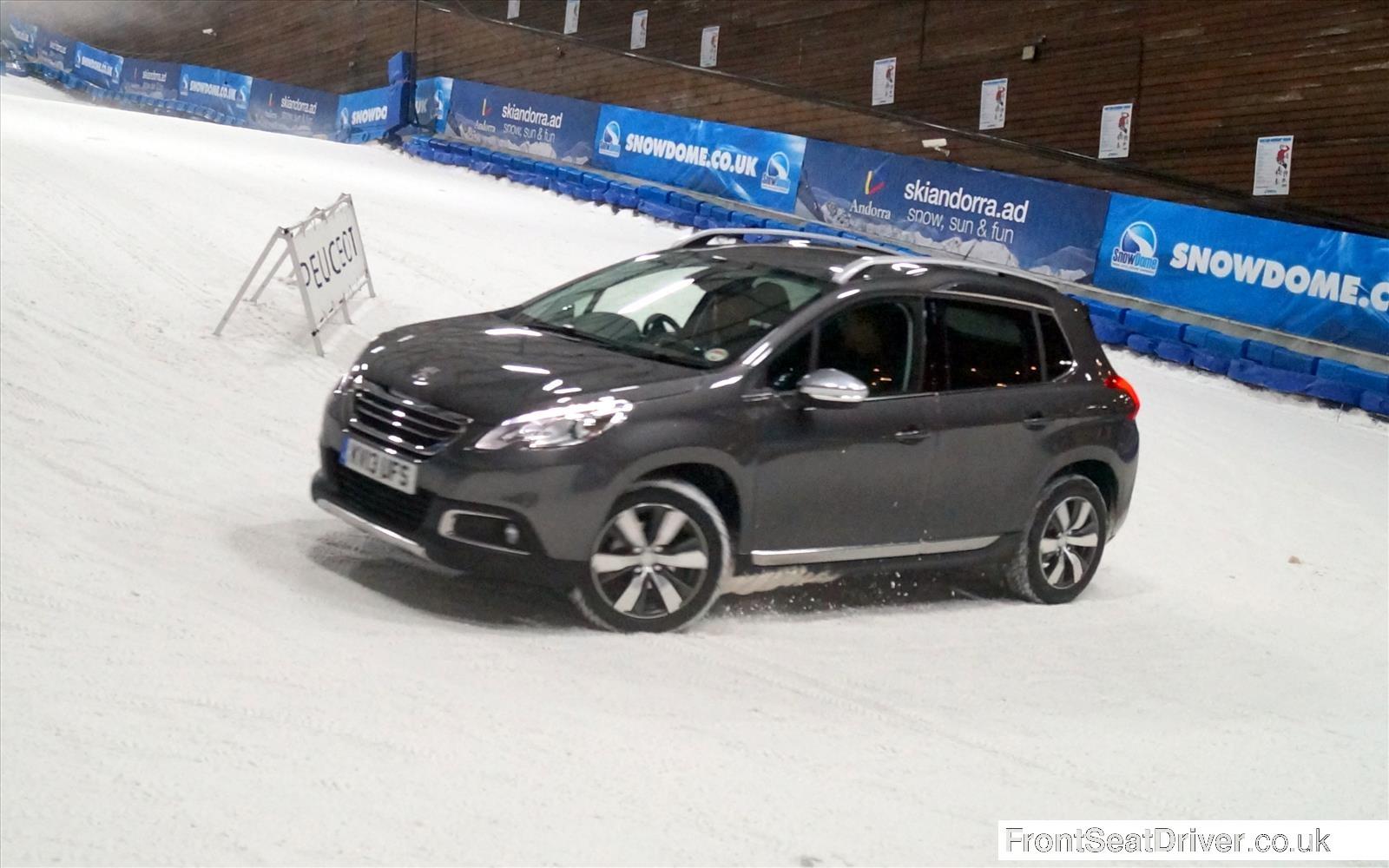 Peugeot 2008 2013 Cornering in Snowzone