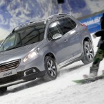 Peugeot 2008 2013 With Snowboarder