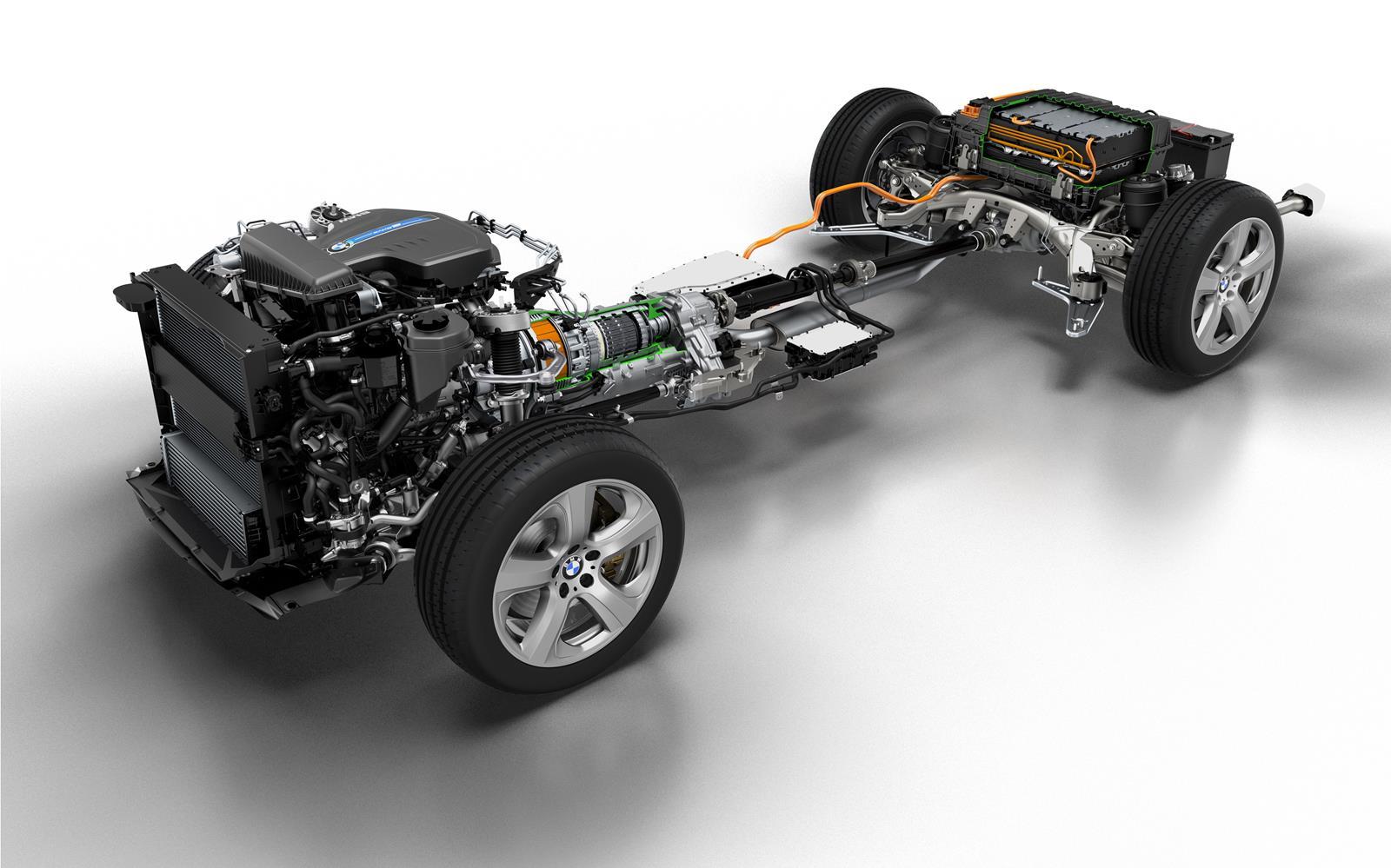 BMW X5 eDrive PHEV Prototype 2014 Drivetrain FrontSeatDriver.co.uk