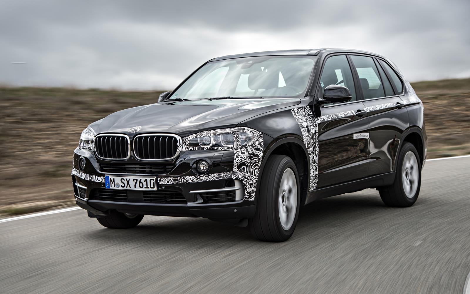BMW X5 eDrive PHEV Prototype 2014 Front Left FrontSeatDriver.co.uk
