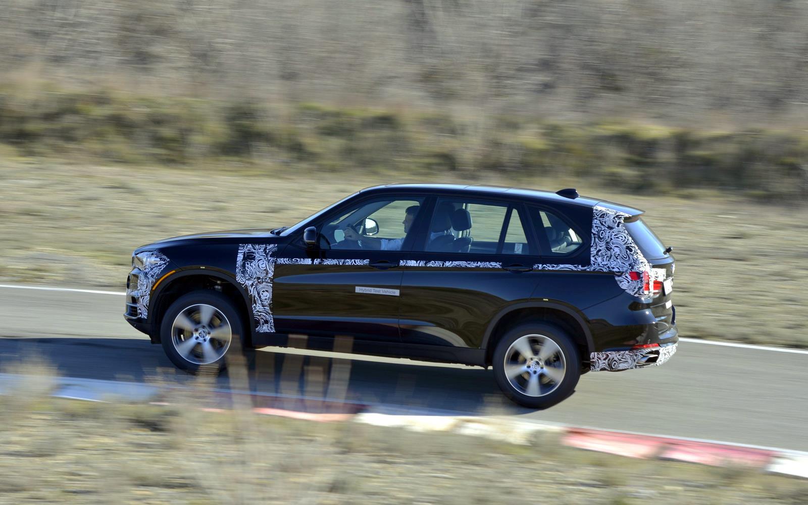 BMW X5 eDrive PHEV Prototype 2014 Profile Left FrontSeatDriver.co.uk