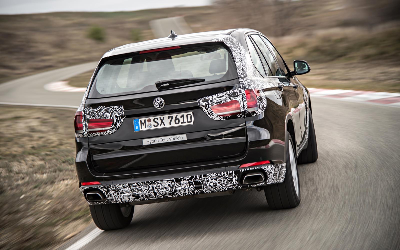 BMW X5 eDrive PHEV Prototype 2014 Rear FrontSeatDriver.co.uk