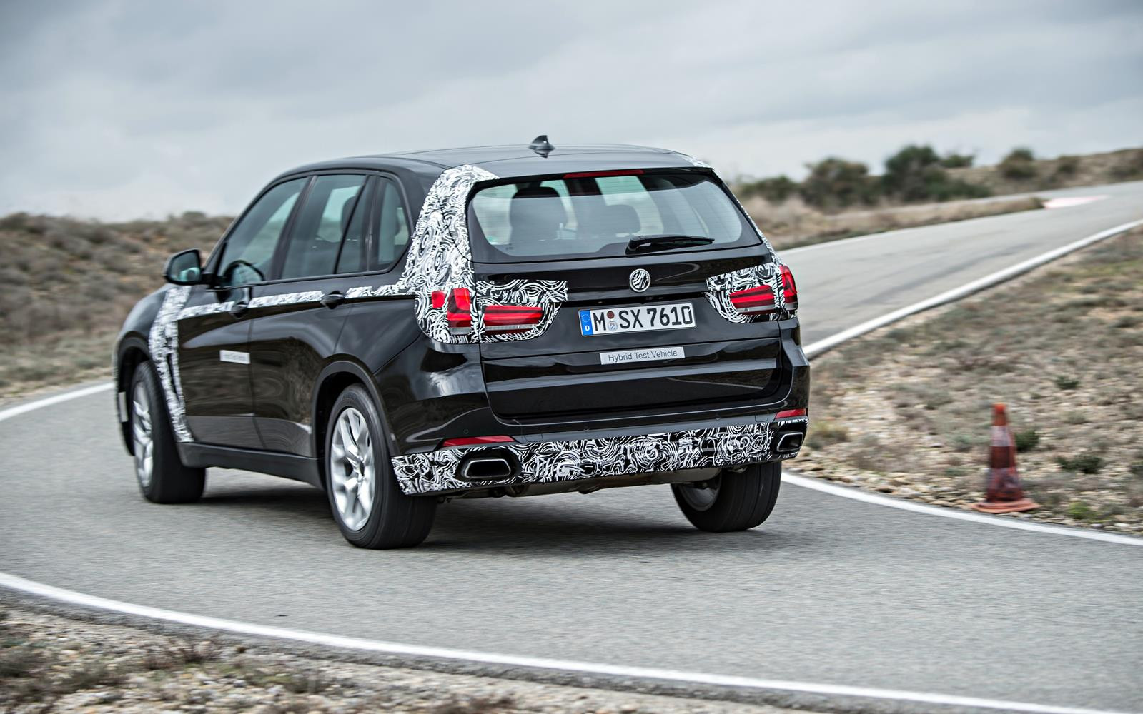 BMW X5 eDrive PHEV Prototype 2014 Rear Left Cornering FrontSeatDriver.co.uk