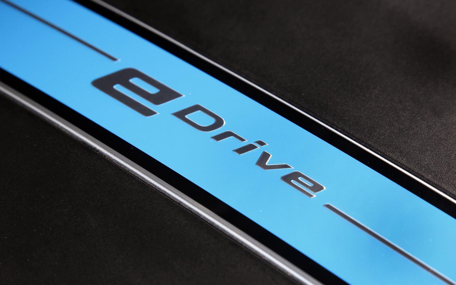 BMW X5 eDrive PHEV Prototype 2014 eDrive Detail FrontSeatDriver.co.uk