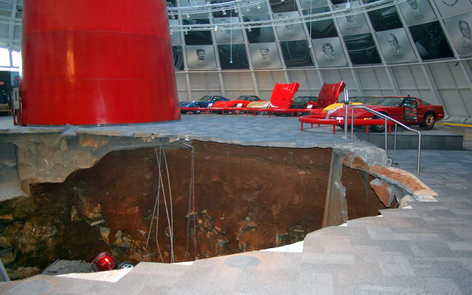 National Corvette Museum Sinkhole Collapse 2014 3