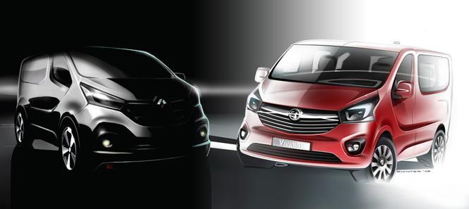 Renault Trafic and Vauxhall Vivaro Teaser 2014 665x297
