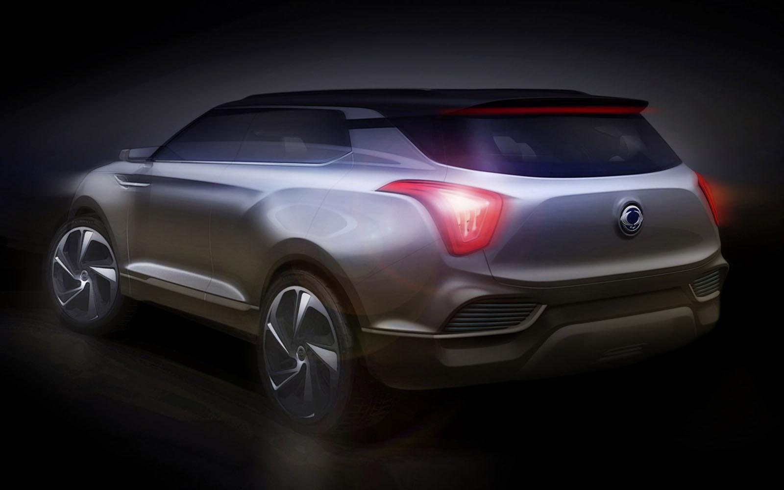 SsangYong XLV Concept 2014 Rear FrontSeatDriver.co.uk