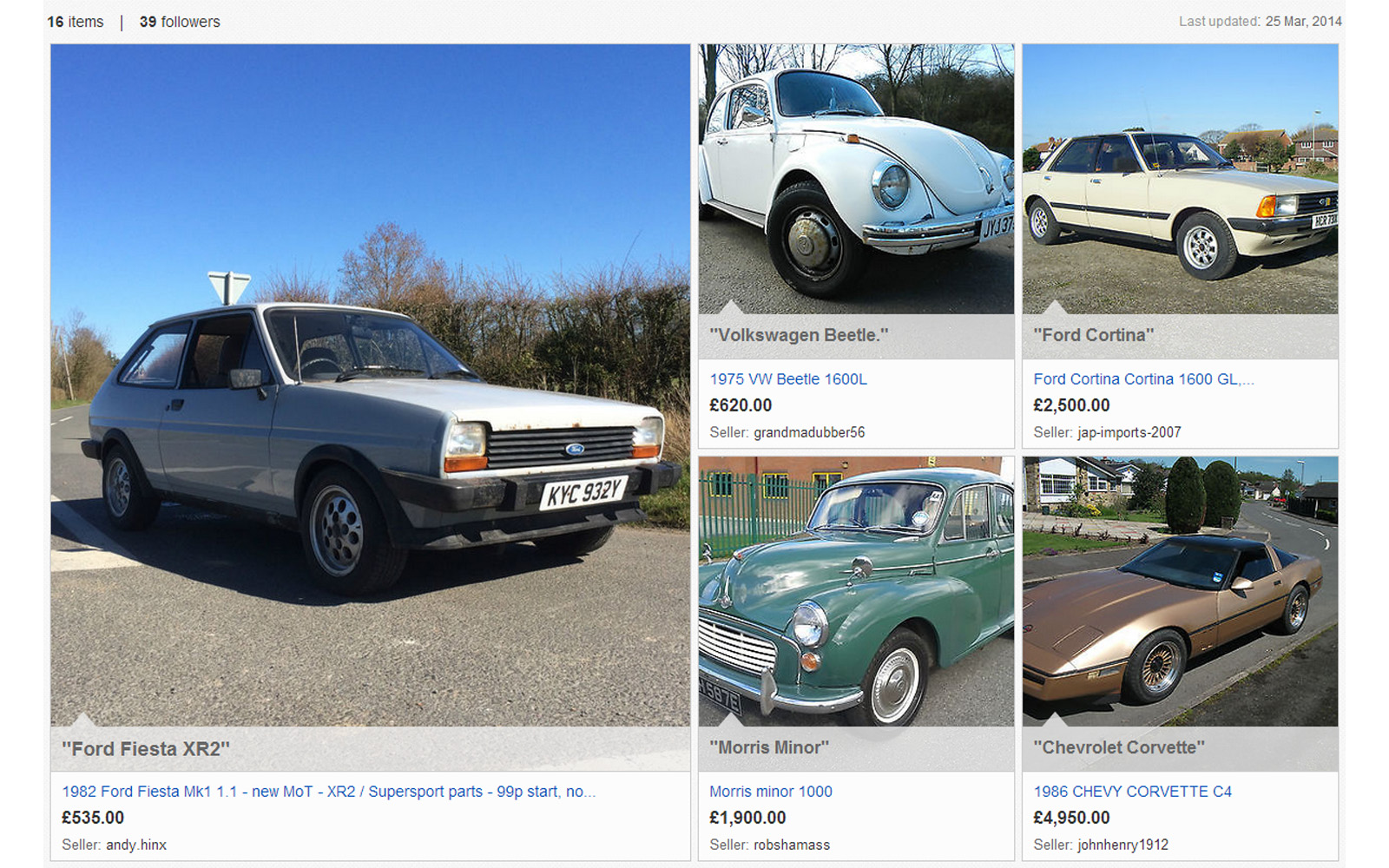 eBay Collections 2014 Affordable Classics – Front Seat Driver