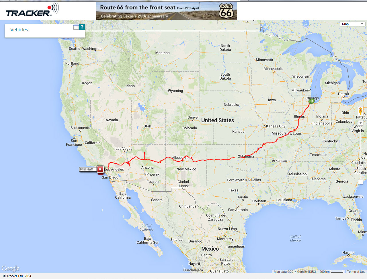 Route 66 2014 Tracker