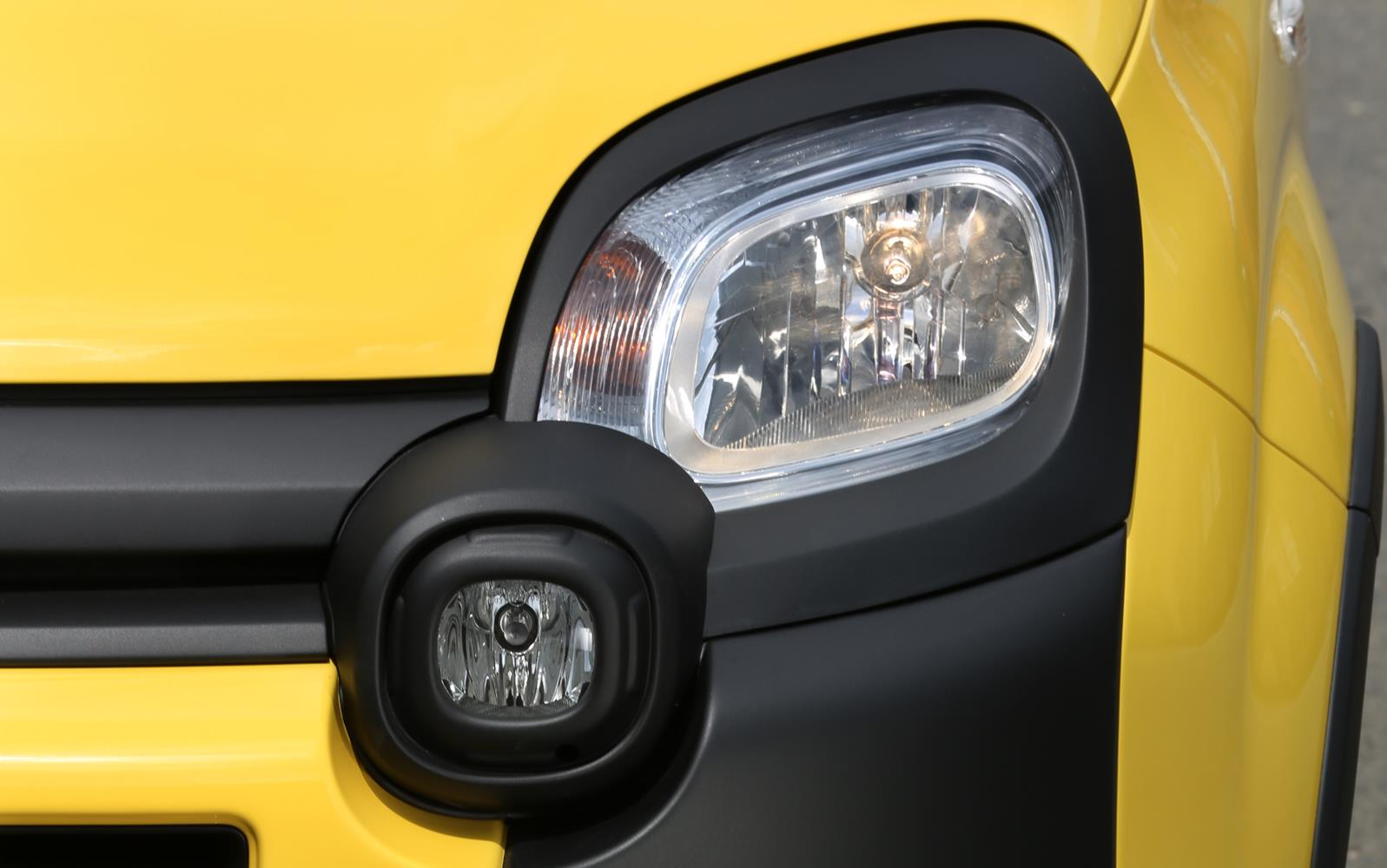 Fiat Panda Cross 2014 Headlight Detail FrontSeatDriver.co.uk