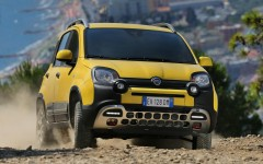 Fiat Panda Cross 2014 Off-road Front FrontSeatDriver.co.uk