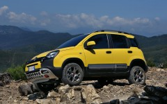 Fiat Panda Cross 2014 Off-road Profile FrontSeatDriver.co.uk