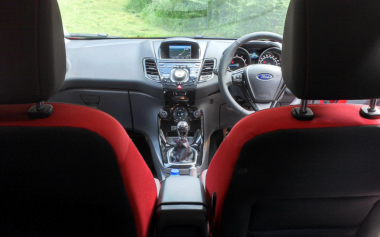 ford fiesta red black edition 2014 interior from rear phil huff front. Black Bedroom Furniture Sets. Home Design Ideas