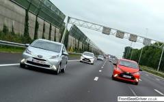 Toyota Aygo 2014 Fleet on Motorway Phil Huff FrontSeatDriver.co.uk
