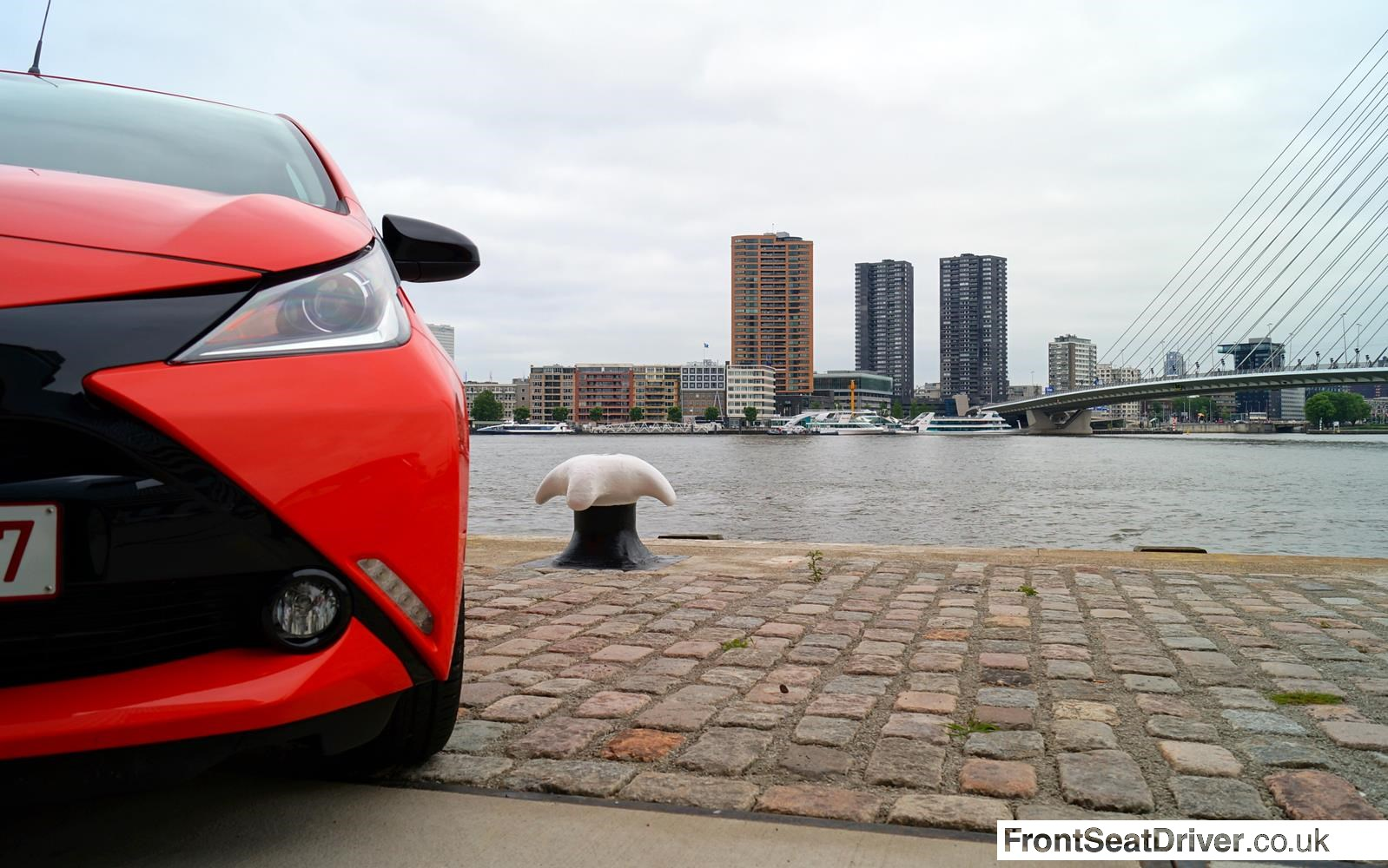 Toyota Aygo 2014 Headlight Detail Phil Huff FrontSeatDriver.co.uk