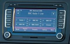 Volkswagen up! 2014 DAB Digital Radio Detail Front FrontSeatDriver.co.uk