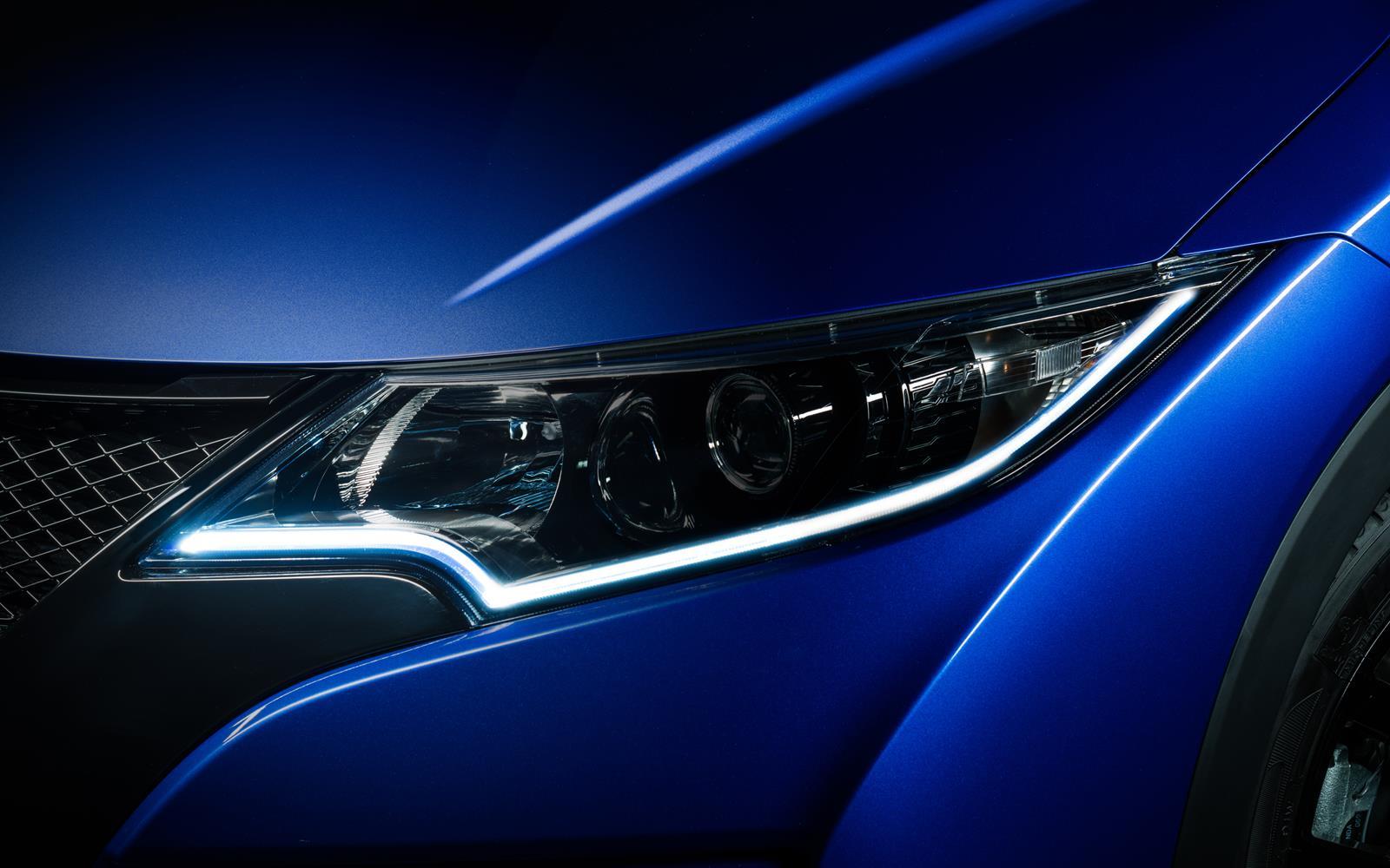 honda civic sport 2014 led headlight detail front seat driver. Black Bedroom Furniture Sets. Home Design Ideas