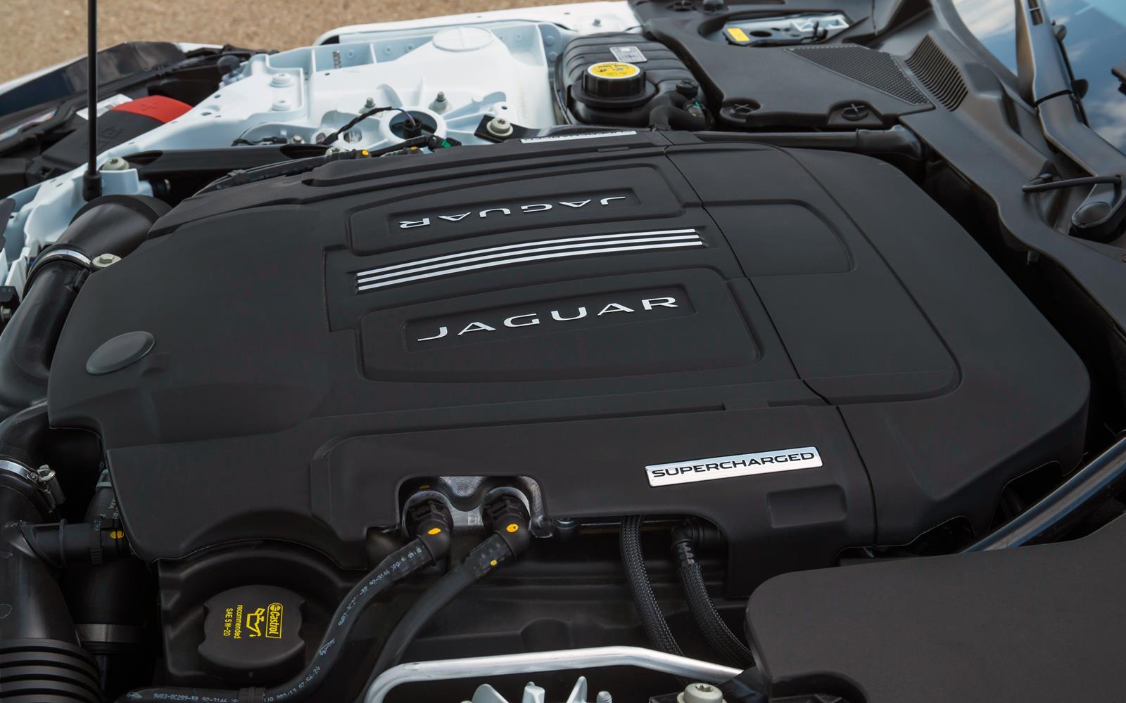 Jaguar F-Type V6 S Coupe2014 Engine Detail FrontSeatDriver.co.uk