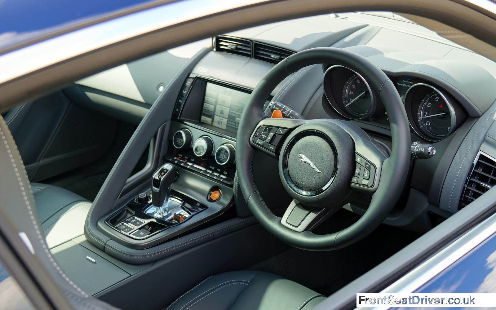 Jaguar F-Type V6 S Coupe2014 Interior Phil Huff FrontSeatDriver.co.uk