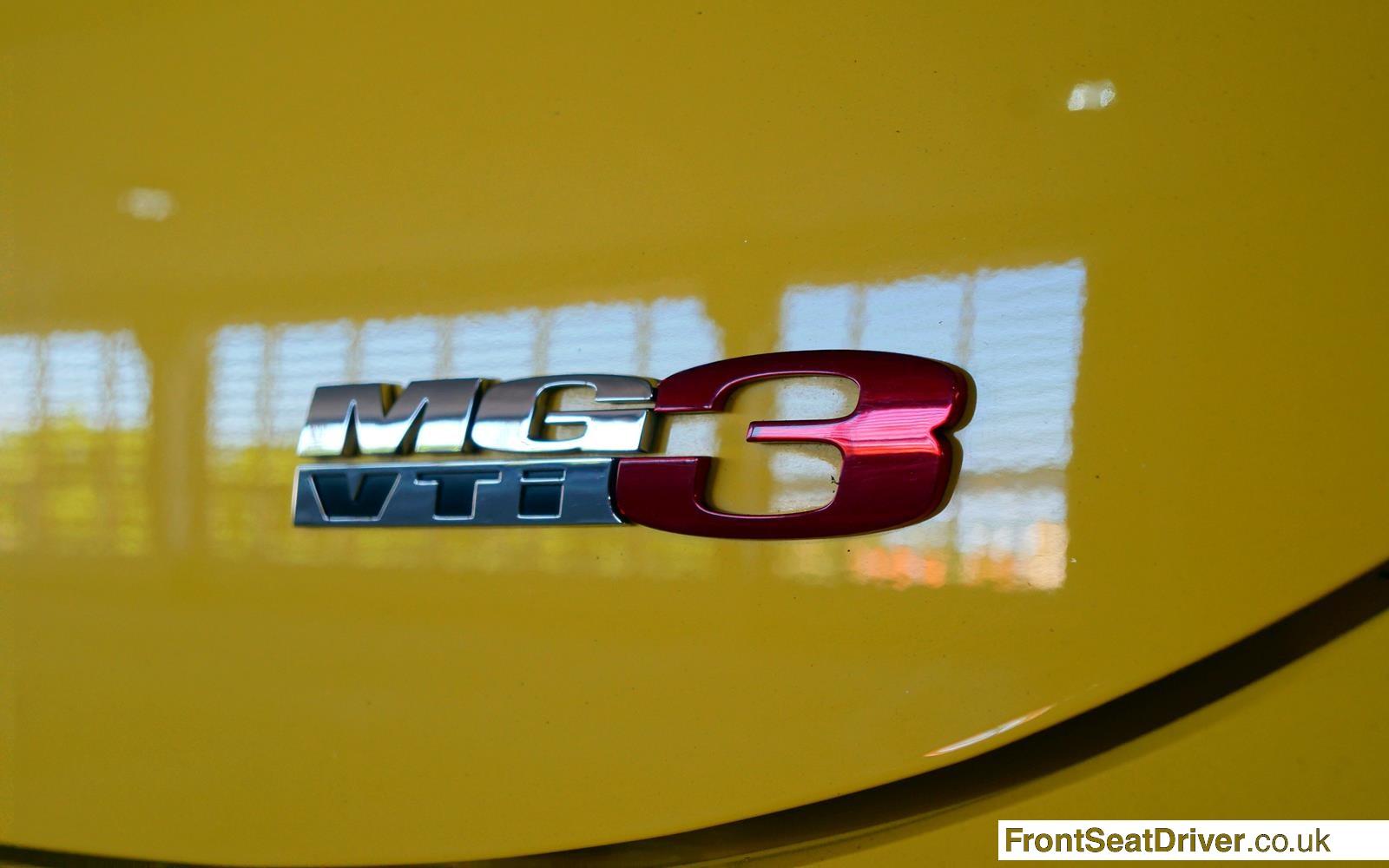 MG 3 2014 Badge Detail Phil Huff FrontSeatDriver.co.uk