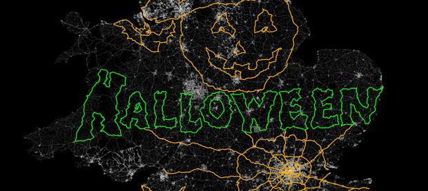 Vauxhall Halloween GPS Artwork 2014 620x277