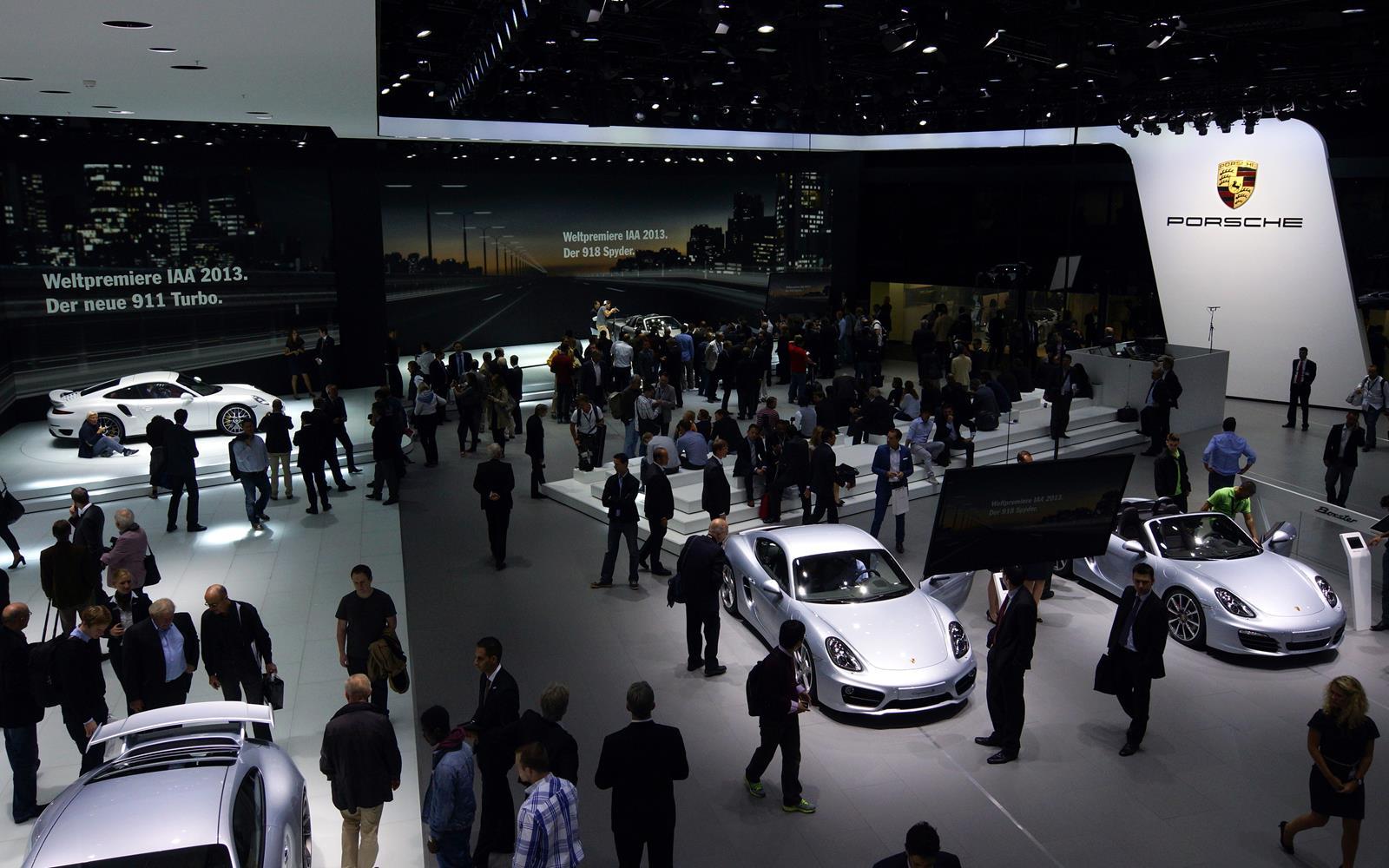 Frankfurt Motor Show Iaa 2015 Porsche Front Seat Driver
