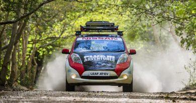 Rally Prepared Nissan Leaf AT-EV Starts 10,000 Mile Journey