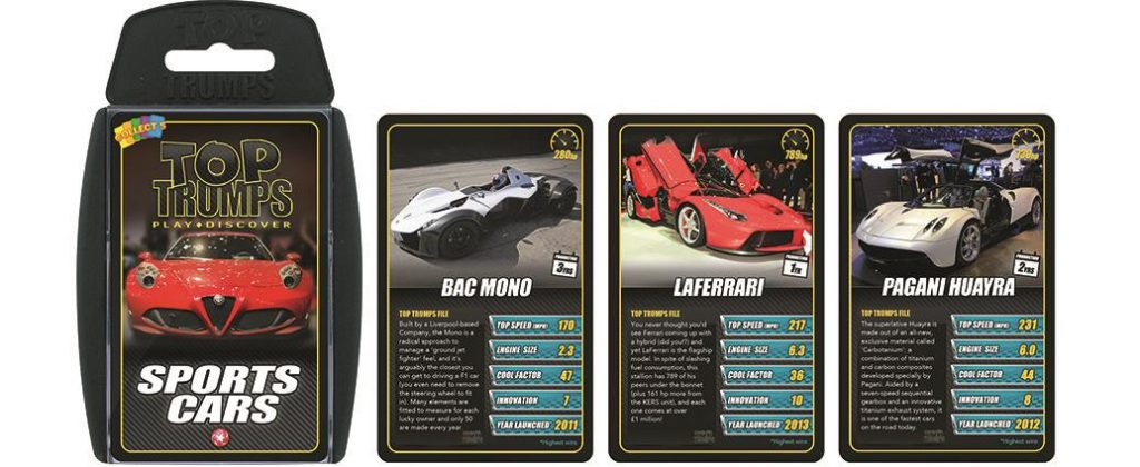 Top Trumps Sports Car pack