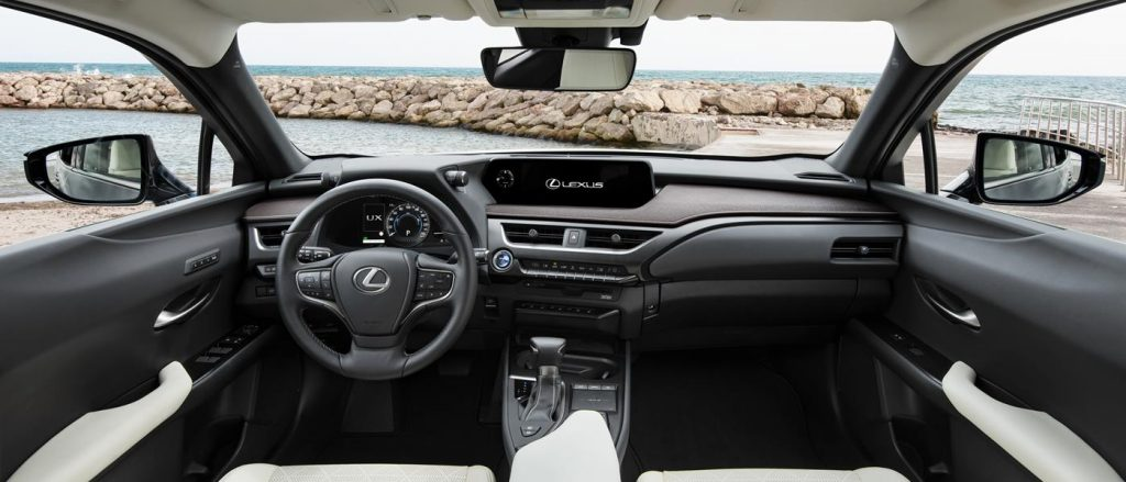 The Lexus UX features a distinctive interior.