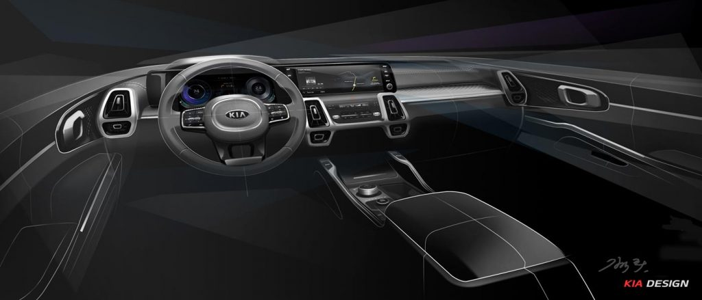 The new Kia Sorento features an upgraded interior.