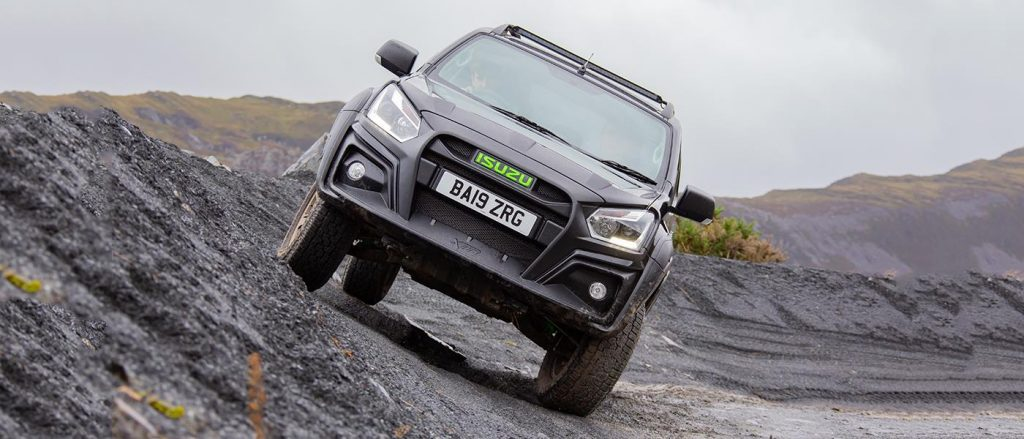 The Isuzu D-Max XTR laughs at obstacles like this.