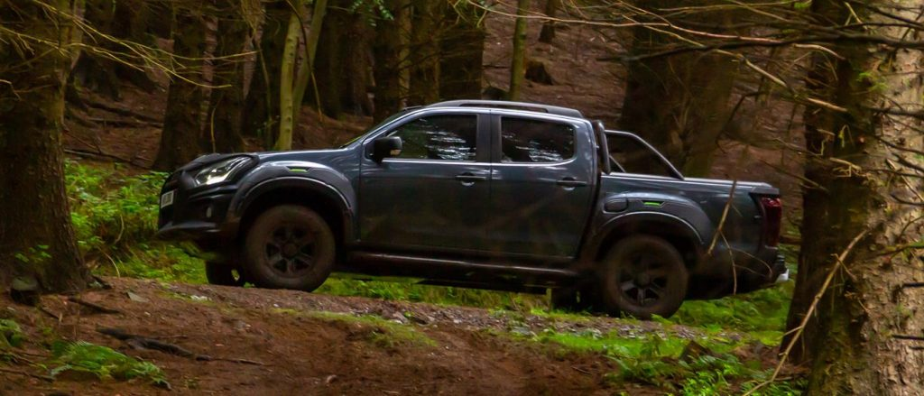 The Isuzu D-Max XTR makes mincemeat of forest tracks.