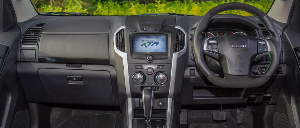 The Isuzu D-Max XTR interior is solid if shiny.