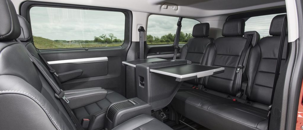 Executive seating is a feature of the Vauxhall Vivaro Life Elite.